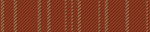 Hammerumpigens kjole var vævet af rød og hvid uldtråd i kiperbinding. Mønster sekvensen med tre linjer har siddet midt på brystet.